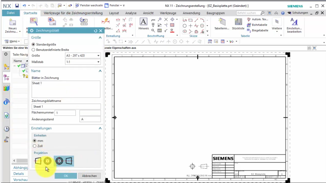 Siemens NX Drafting (Part 1)