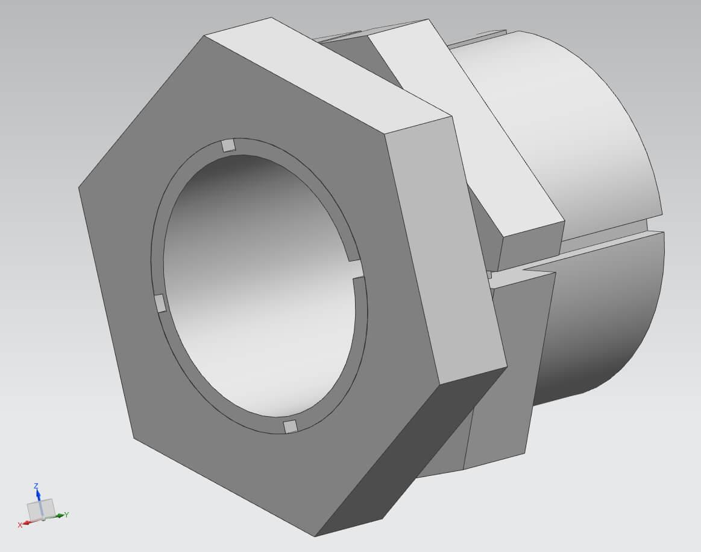 Spannsatz TMK, Bohrungen von 5 bis 45 mm