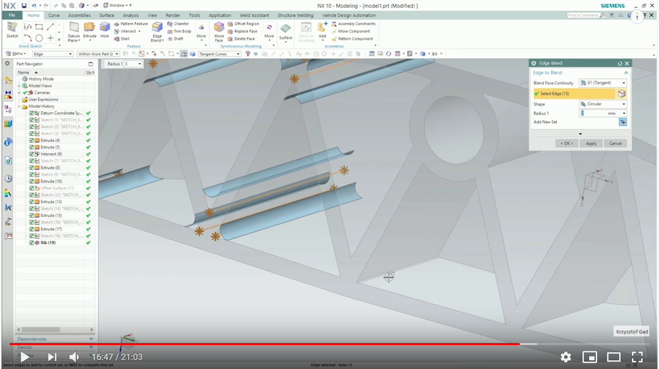 Siemens NX Part Design – Basic Features (Part 1)